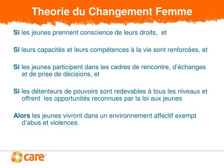 Theorie du Changement Femme