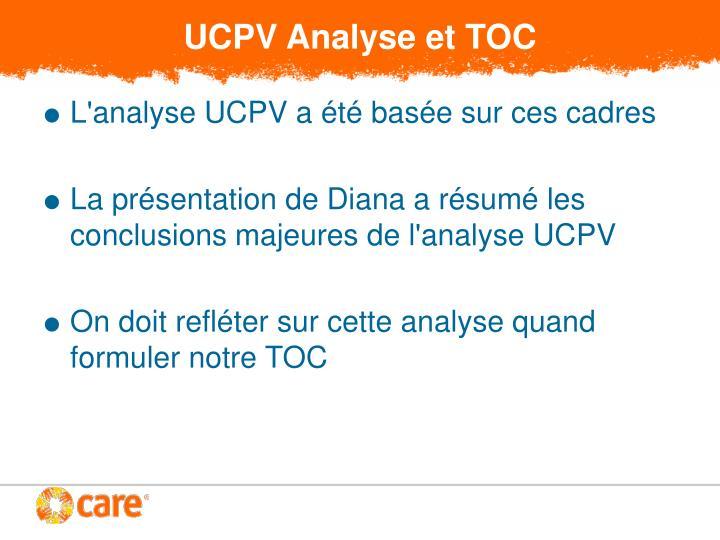 UCPV Analyse et TOC