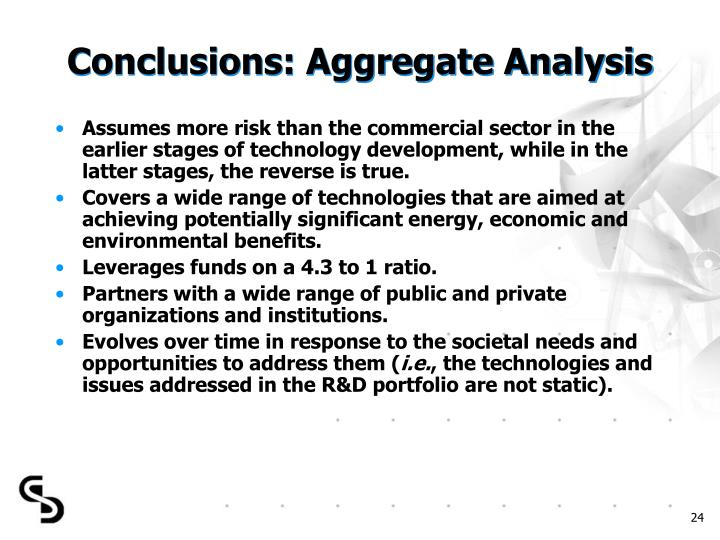 Conclusions: Aggregate Analysis