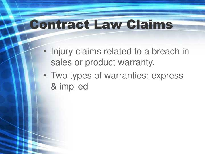 Contract Law Claims