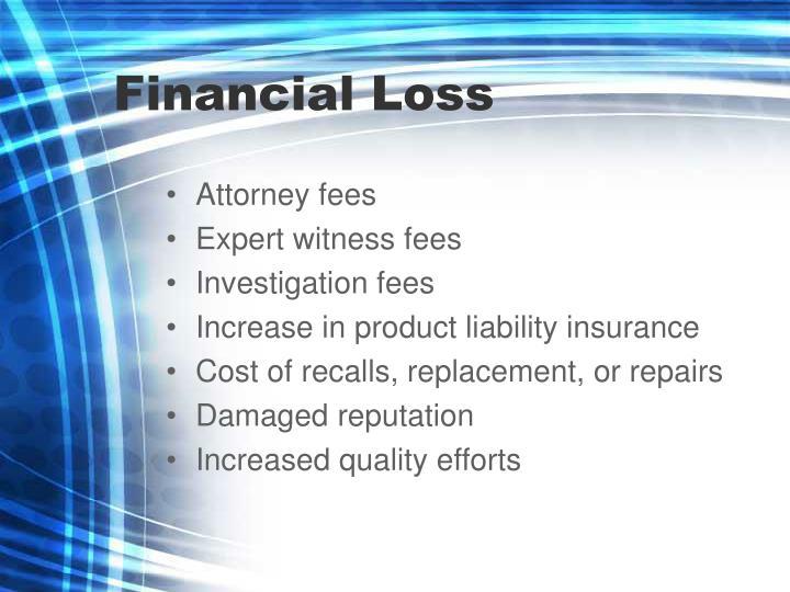 Financial Loss