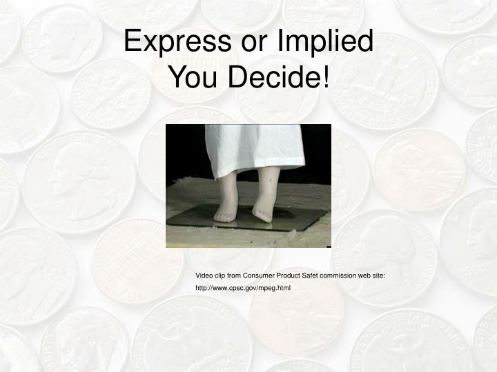 Express or Implied