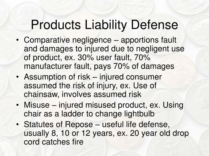 Products Liability Defense