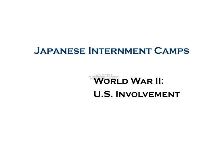 japanese internment camps n.