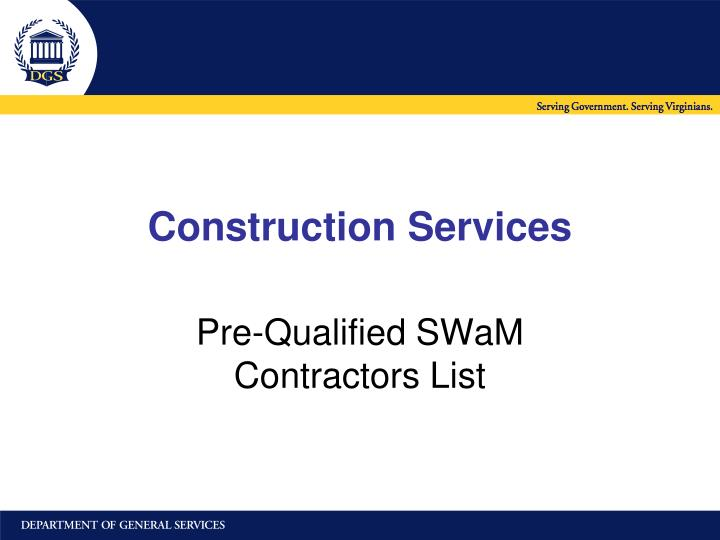 construction services n.