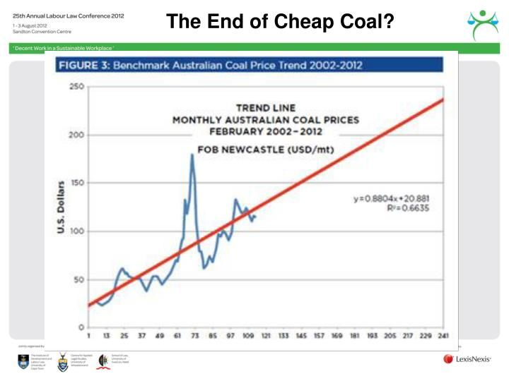 The End of Cheap Coal?