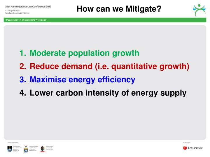 How can we Mitigate?