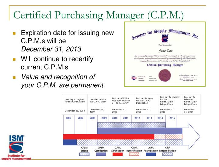 Certified Purchasing Manager (C.P.M.)