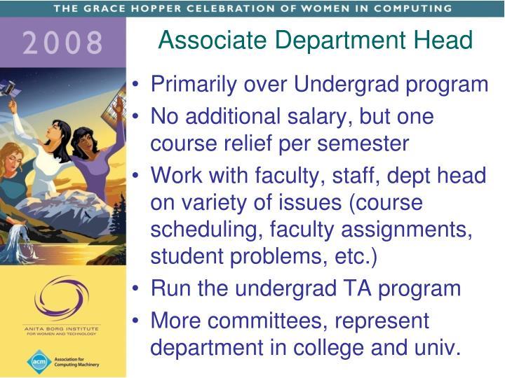 Associate Department Head