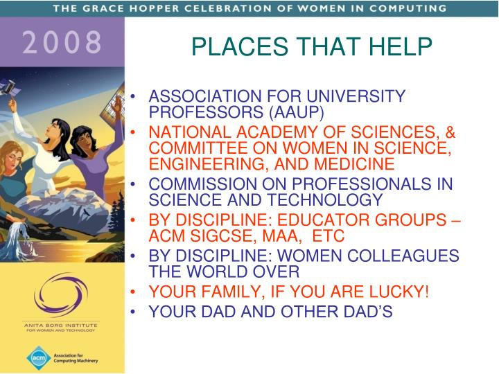 PLACES THAT HELP