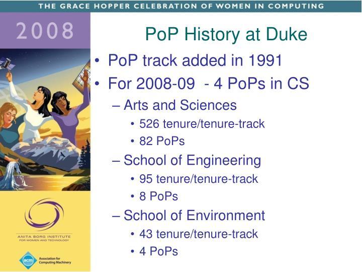 PoP History at Duke