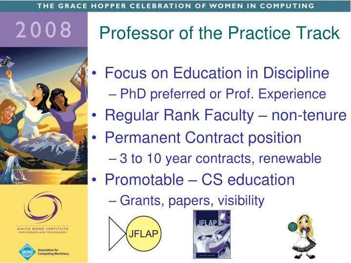 Professor of the Practice Track