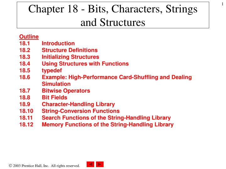 chapter 18 bits characters strings and structures n.