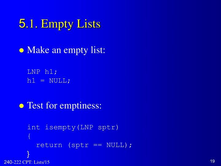 5.1. Empty Lists
