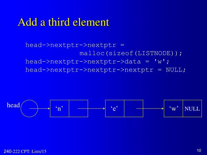 Add a third element