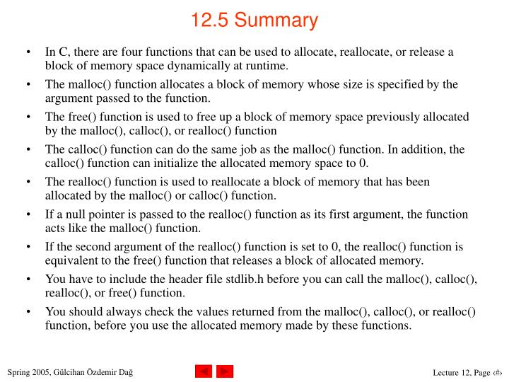 12.5 Summary