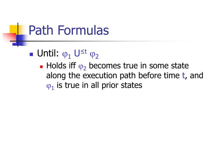 Path Formulas