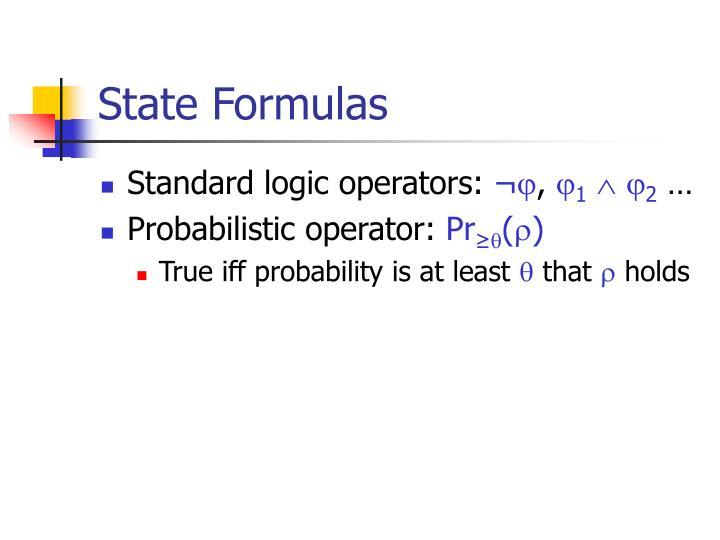 State Formulas