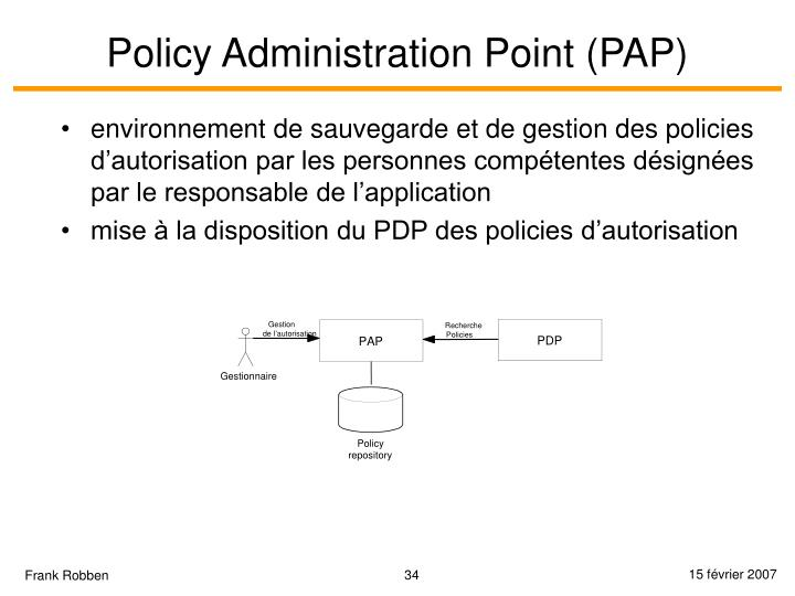Policy Administration Point (PAP)