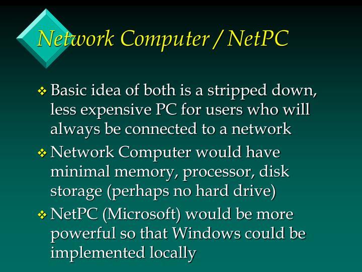 Network Computer / NetPC
