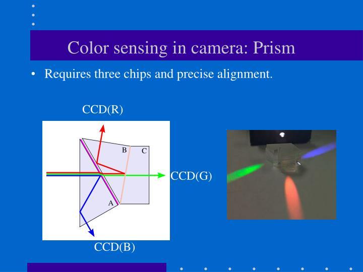 Color sensing in camera: Prism