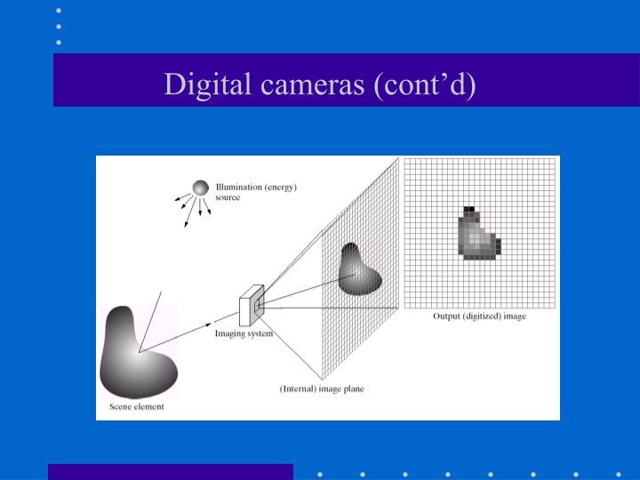 Digital cameras (cont'd)