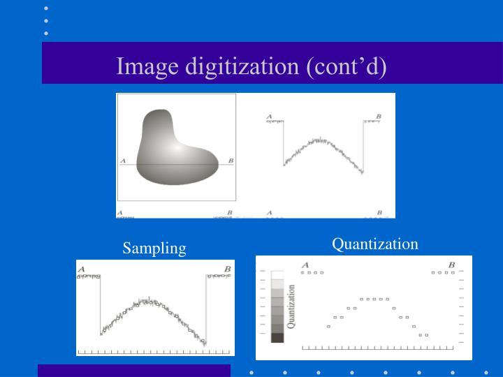 Image digitization (cont'd)