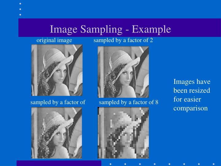 Image Sampling - Example