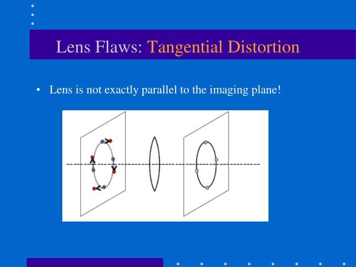 Lens Flaws:
