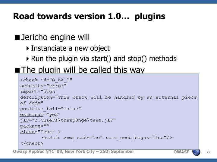 Road towards version 1.0…  plugins
