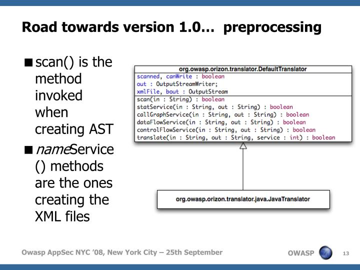 Road towards version 1.0…  preprocessing