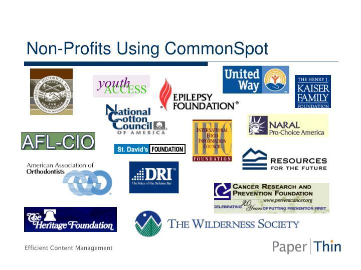 Non-Profits Using CommonSpot