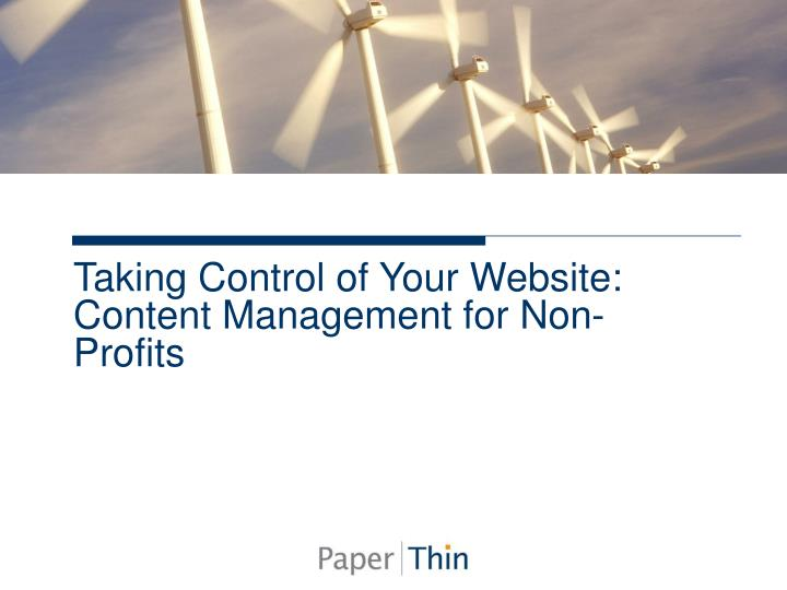 Taking control of your website content management for non profits