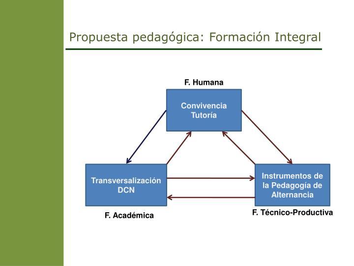 Propuesta pedagógica: Formación Integral