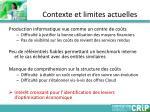 contexte et limites actuelles1