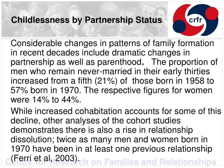 Childlessness by Partnership Status