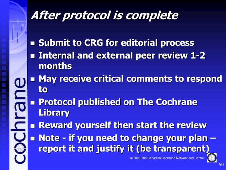 Submit to CRG for editorial process