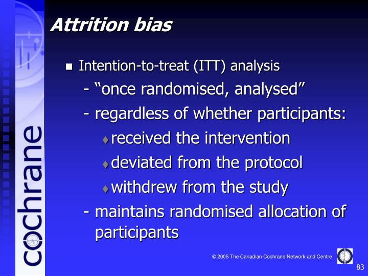 Intention-to-treat (ITT) analysis