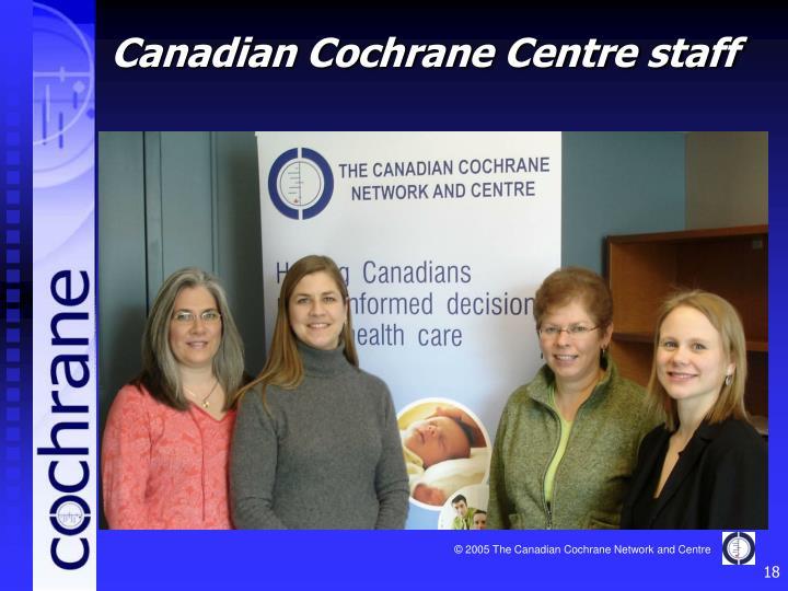 Canadian Cochrane Centre staff