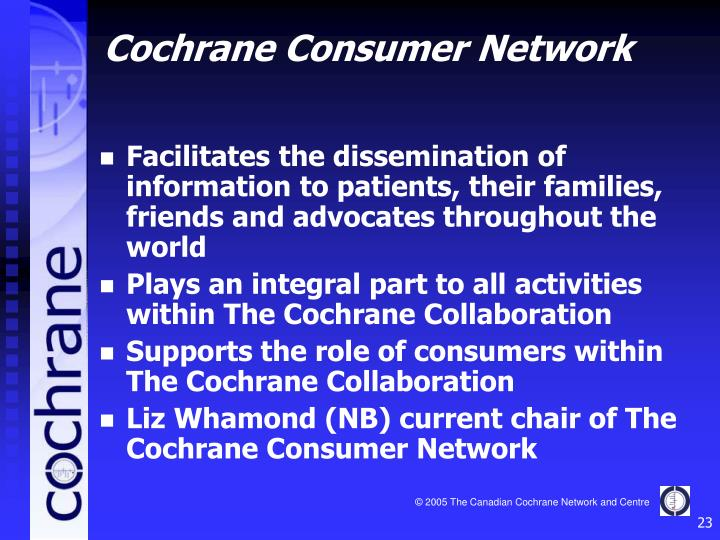 Facilitates the dissemination of information to patients, their families, friends and advocates throughout the world