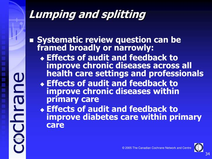 Systematic review question can be framed broadly or narrowly: