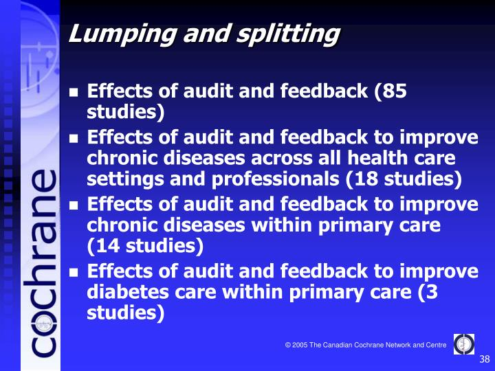 Effects of audit and feedback (85 studies)