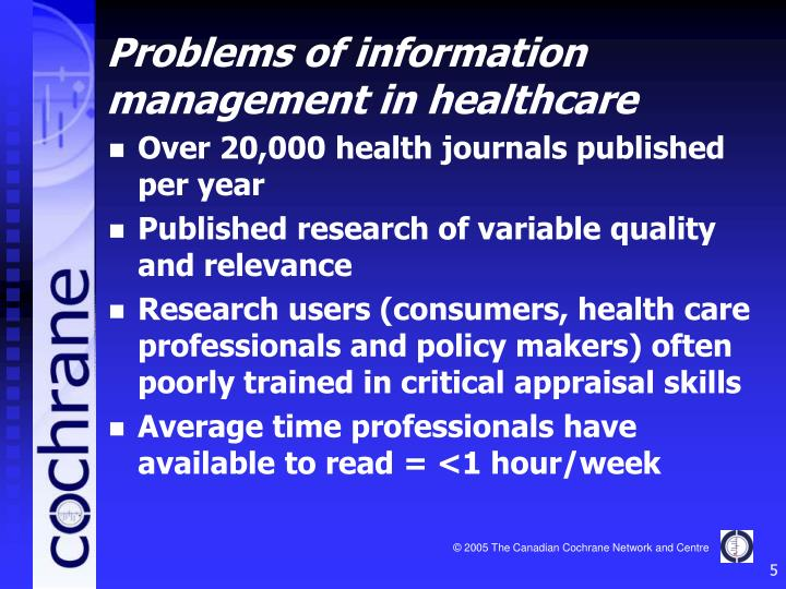 Over 20,000 health journals published per year