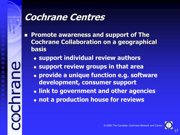 Cochrane Centres