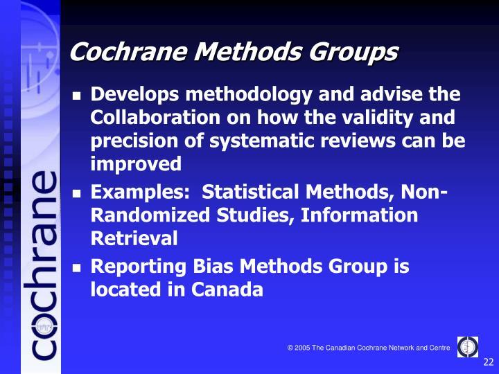 Cochrane Methods Groups