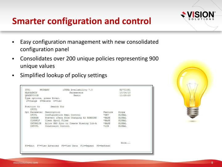 Smarter configuration and control