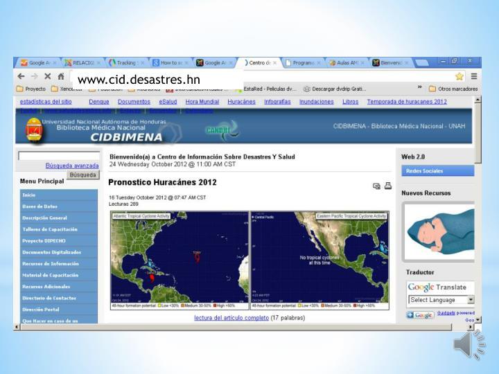www.cid.desastres.hn