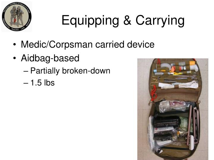 Equipping & Carrying