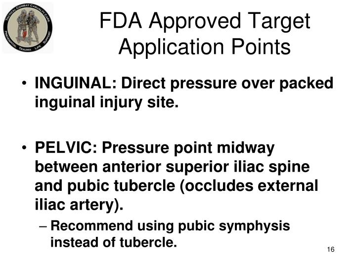 FDA Approved Target Application Points