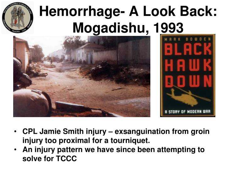 Hemorrhage a look back mogadishu 1993
